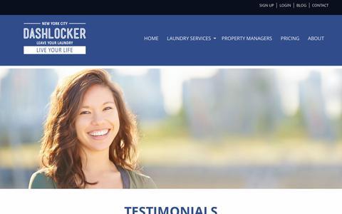 Screenshot of Testimonials Page dashlocker.com - Testimonials - DashLocker - captured June 4, 2017