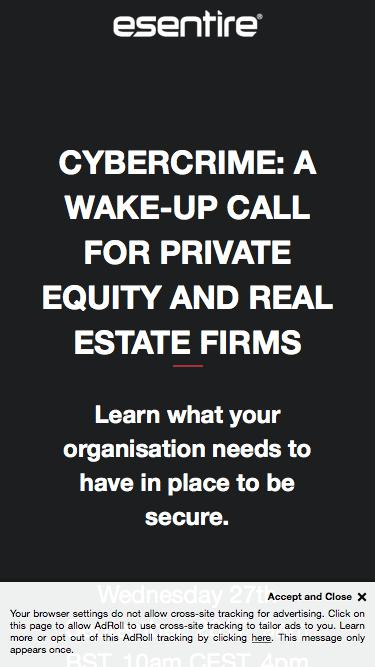 Cybercrime: A Wake-Up Call for Private Equity and Real Estate Firms