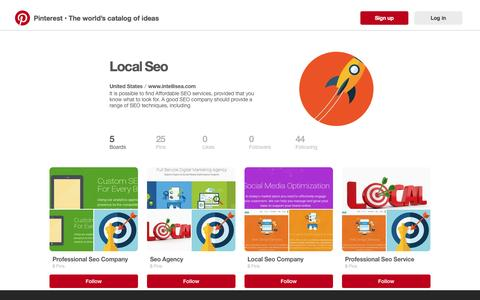 Screenshot of pinterest.com - Local Seo on Pinterest - captured Sept. 20, 2016