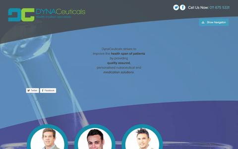 Screenshot of About Page dynaceuticals.com - About Us - DynaCeuticals - captured Sept. 30, 2014