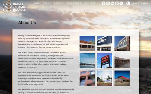 Screenshot of About Page halseythrasherharpole.com - Home Realtors Jonesboro AR - Halsey Thrasher Harpole Realtors - captured Sept. 26, 2018