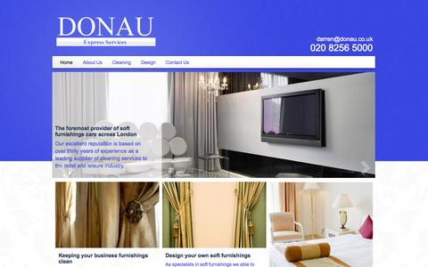 Screenshot of Home Page donau.co.uk - Commercial Carpet Cleaners In Croydon, London | Donau Express Services - captured Oct. 5, 2014