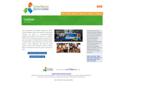 Screenshot of Locations Page careersourcesfl.com - Locations   CareerSource South Florida - captured Oct. 1, 2014