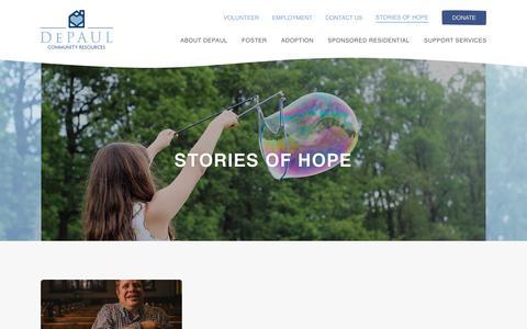 Screenshot of Blog depaulcr.org - Fostering, Adoption, Caregiving & More | DePaul Community Resources Blog - captured Oct. 12, 2017