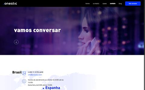 Screenshot of Contact Page onestic.com.br - Contact – Onestic Brasil - captured Nov. 17, 2018