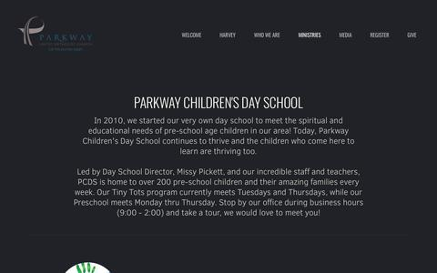Screenshot of parkwayumc.org - Parkway United Methodist Church | Our Day School - captured Nov. 28, 2018