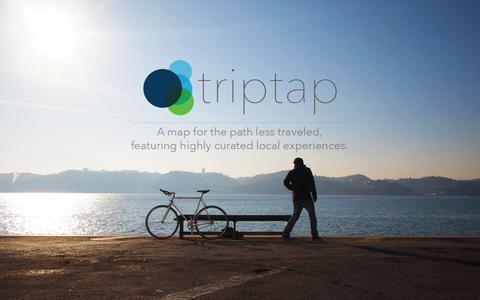 Screenshot of Home Page triptap.com - triptap - Home - captured Aug. 11, 2015
