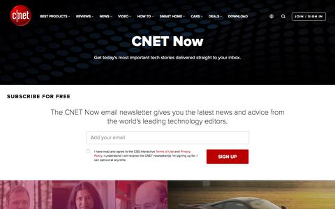 Screenshot of Signup Page cnet.com - CNET Newsletters - CNET - captured Sept. 1, 2019