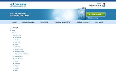 Screenshot of Site Map Page experium.ru - Experium - captured Oct. 2, 2014