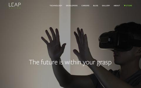 Screenshot of Jobs Page leapmotion.com - Careers — Leap Motion - captured Feb. 8, 2017