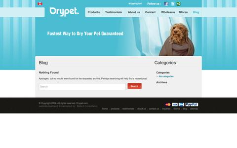 Screenshot of Blog drypet.com - Pet Dog Towels Blog | Drypet Blog - captured Sept. 30, 2014