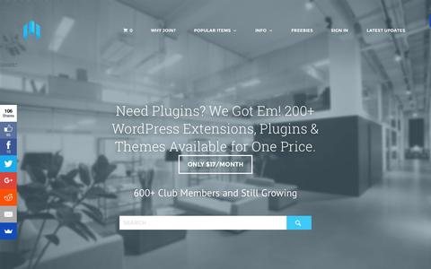 Screenshot of Home Page searcherr.com - Need Plugins? We Got Em! 200+ WordPress Extensions, Plugins & Themes Available for One Price. - Searcherr - captured Oct. 15, 2015
