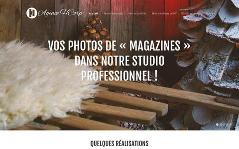 Screenshot of Home Page agence-hcorp.eu - Accueil - Agence HCorp - Agence web et de publicité - Saverne - captured Dec. 24, 2015