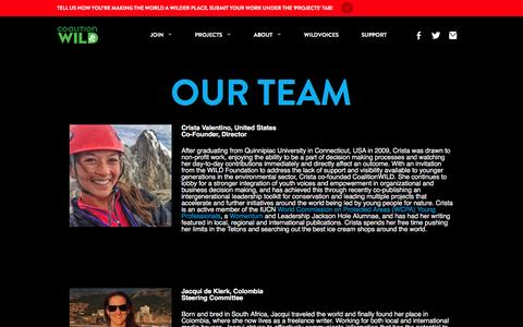 Screenshot of Team Page coalitionwild.org - Our Team - CoalitionWILD - captured May 19, 2017