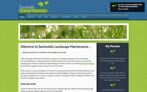 Screenshot of Home Page santoriellomaintenance.com - Santoriello Landscape Maintenance: Door County, WI. - captured Oct. 4, 2014