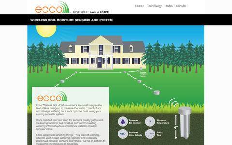 Screenshot of Home Page eccosoil.com - ecco soil moisture sensors - ECCO - captured Oct. 1, 2014