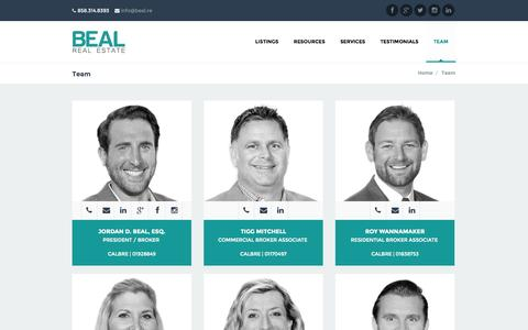 Screenshot of Team Page bealre.com - Team | Beal Real Estate - captured Oct. 5, 2014