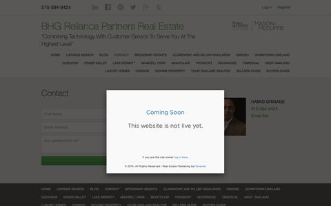 Screenshot of Contact Page oaklandhomespecialist.com - Contact - BHG Mason McDuffie Real Estate - captured Sept. 19, 2017
