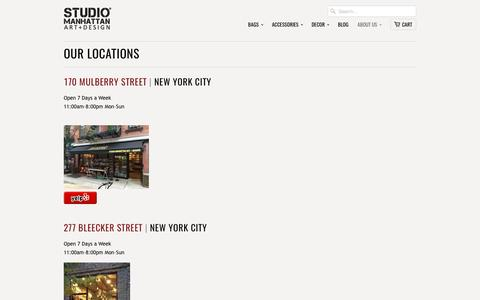 Our Locations                           | Studio Manhattan