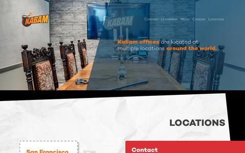 Screenshot of Locations Page kabam.com - Locations - Corporate Kabam - captured Sept. 19, 2017