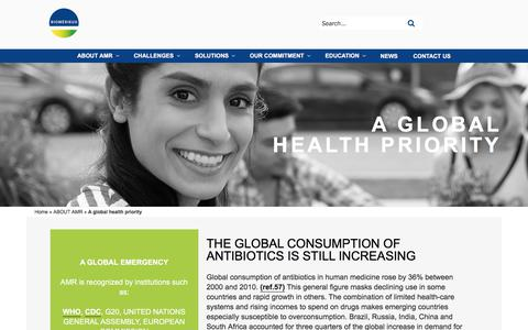 Screenshot of About Page biomerieux.com - Global antimicrobial resistance : statistics & economic impact | BioMérieux - captured Dec. 12, 2019