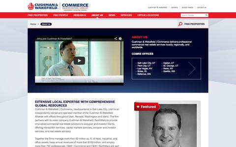 Screenshot of About Page comre.com - About Us | Cushman & Wakefield | Commerce Real Estate Solutions - captured Sept. 23, 2014