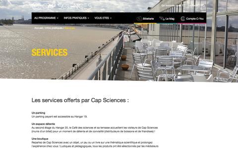 Screenshot of Services Page cap-sciences.net - Services   Cap Sciences - captured Dec. 6, 2015