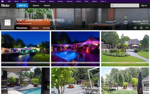 Screenshot of Flickr Page flickr.com - Flickr: VanSleeuwenHoveniers' Photostream - captured Oct. 24, 2014
