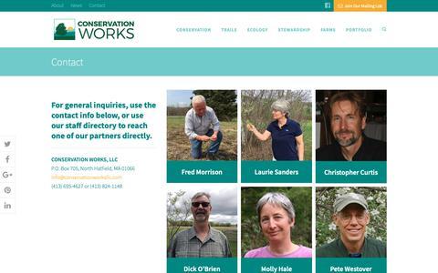Screenshot of Contact Page conservationworksllc.com - Contact | Conservation Works - captured Dec. 8, 2018