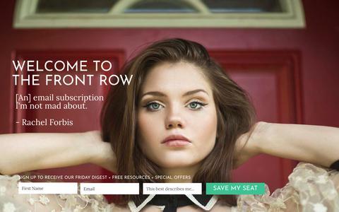 Screenshot of Home Page prcouture.com - Home | Fashion & Lifestyle PR Professionals | PR Couture - captured Nov. 4, 2018