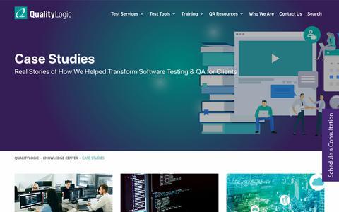 Screenshot of Case Studies Page qualitylogic.com - Case Studies Archive - QualityLogic - captured Dec. 9, 2019