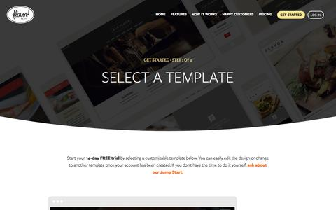 Screenshot of Signup Page flavorplate.com - Build and Manage Your Own Restaurant Website - 14-Day Free Trial - captured Aug. 15, 2018