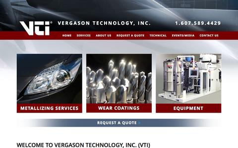 Screenshot of Home Page vergason.com - Surface Treatment Company in Van Etten, NY | Expert Assistance - captured Nov. 13, 2015