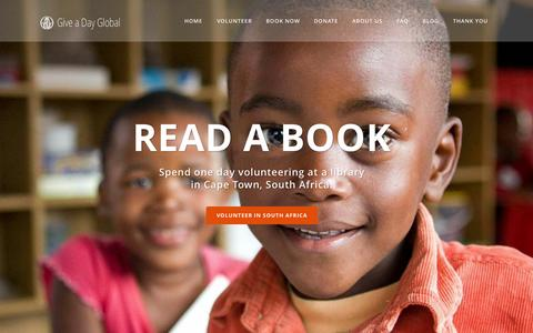 Screenshot of Home Page giveadayglobal.org - Give A Day Global | Give a Day Global - captured July 21, 2015