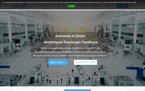 Screenshot of Home Page visitorm.com - Customer Feedback System | visitorM - captured Feb. 24, 2016