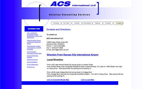 Screenshot of Contact Page aviation-cs.com - Contact - captured Feb. 6, 2016