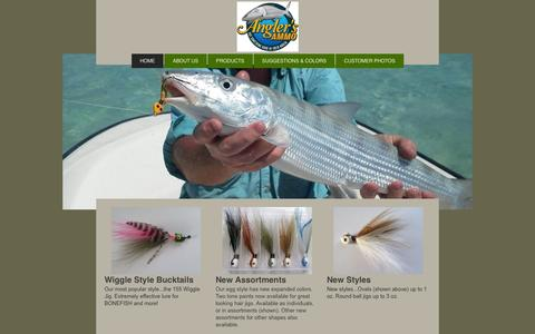 Screenshot of Home Page anglers-ammo.com - Bucktail Jigs, Teasers, & other Fishing Lures - captured Sept. 23, 2014