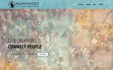 Screenshot of Home Page humanised.com.au - Humanised Web and Graphic Design Solutions - captured March 5, 2016
