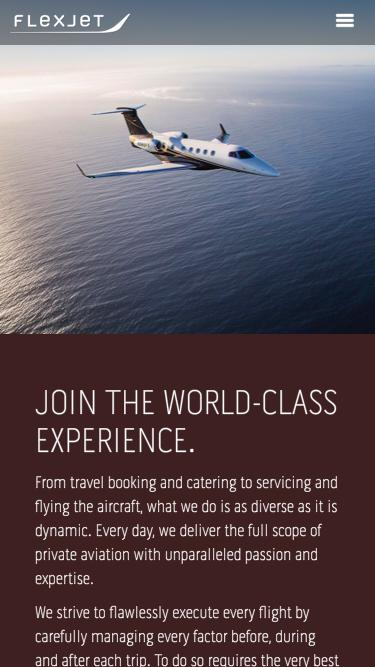 Screenshot of Jobs Page  flexjet.com - Careers - View Open Positions & Join The Flexjet Family