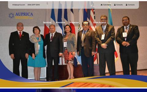 Screenshot of Home Page auprica.com - AUPRICA - captured Sept. 27, 2015