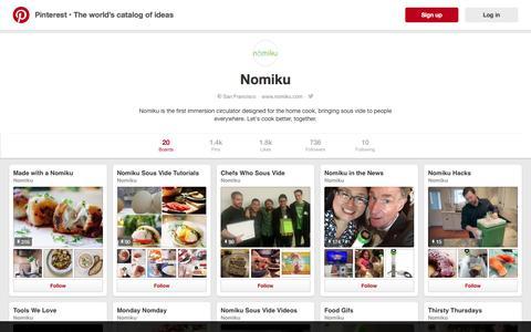 Screenshot of pinterest.com - Nomiku on Pinterest - captured June 15, 2016