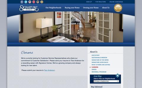 Screenshot of Jobs Page sighomes.com - New Homes San Francisco | Careers | Signature Homes - captured Feb. 22, 2016