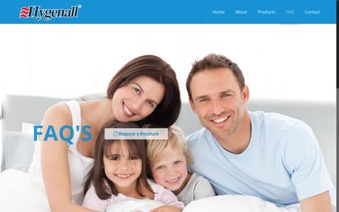 Screenshot of FAQ Page hygenall.com - FAQ – Hygenall - captured Sept. 10, 2017