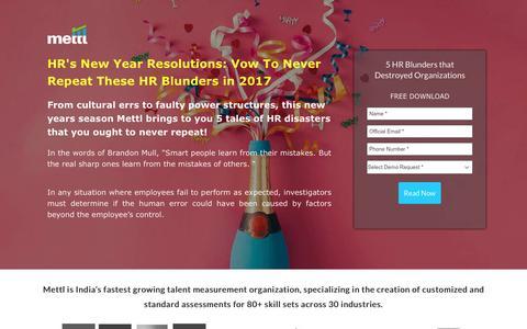 Screenshot of Landing Page mettl.com - 5 HR Resolutions For 2017 - captured Jan. 14, 2017