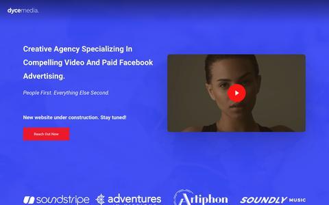 Screenshot of Home Page dycemedia.com - Dyce Media – Creative Common Sense Marketing - captured Dec. 6, 2018