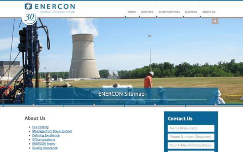 Screenshot of Site Map Page enercon.com - ENERCON Sitemap - captured Oct. 2, 2014