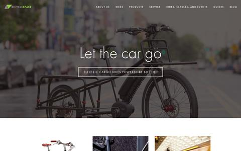Screenshot of Home Page bicyclespacedc.com - BicycleSPACE - captured Sept. 12, 2015