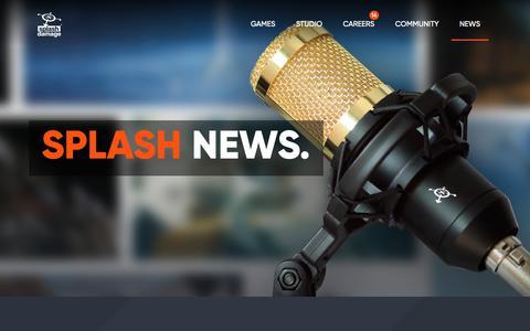 Screenshot of Press Page splashdamage.com - News Archive - Splash Damage Archive - Splash Damage - captured Oct. 19, 2018