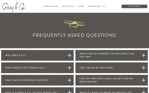 Screenshot of FAQ Page grayandco.ca - FREQUENTLY ASKED QUESTIONS — gray and co - captured Nov. 11, 2018