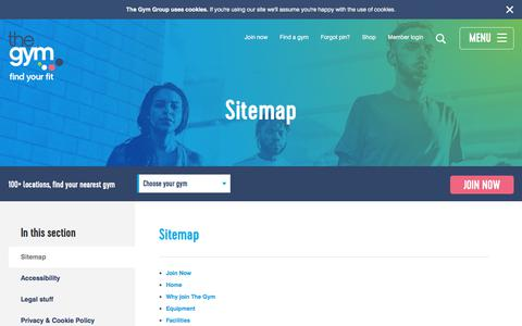 The Gym Group Sitemap | The Gym Group